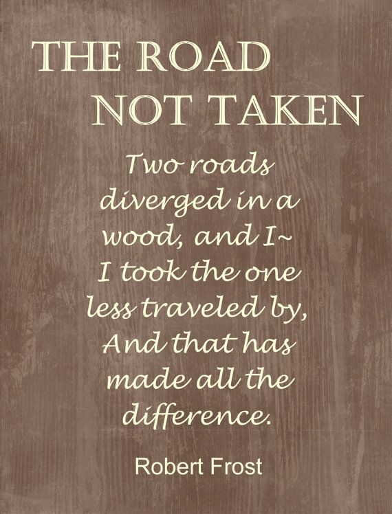 robert frost the road not taken thesis statement