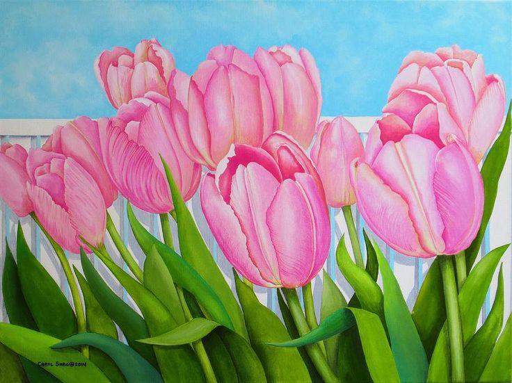 Carol Sabo — Tulips In My Garden (900x674)