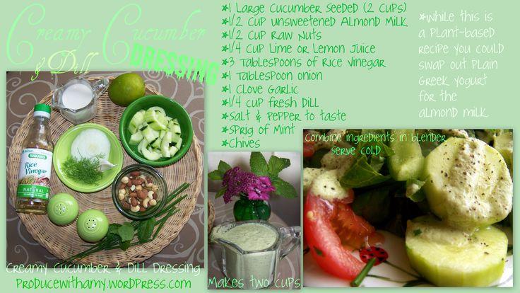 Creamy Cucumber & Dill Dressing | Dressing ~ Gravy ~ Sauce ~ Oil Syru ...