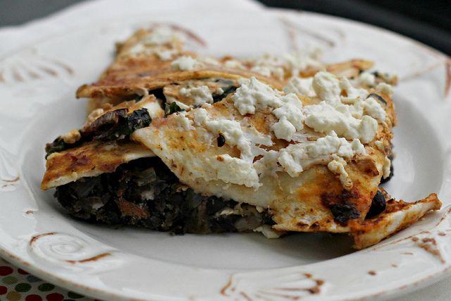 ... Pasilla-Tortilla Casserole with Black Beans, Mushrooms and Chard