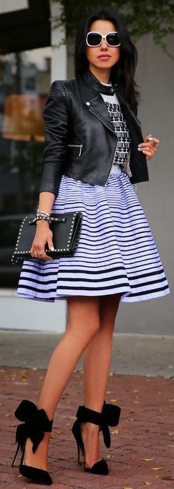 Kenzo Striped A Line Skirt Dress by Vivaluxury