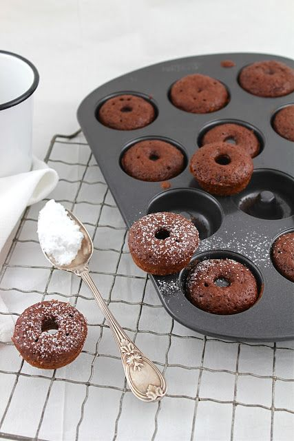 Mini Baked Chocolate Cinnamon Donut Bites