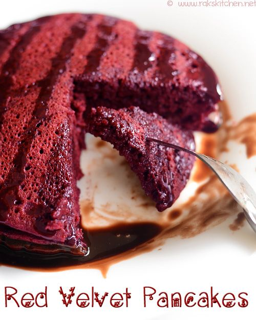 red-velvet-pancakes by Raks anand, via Flickr with beetroot