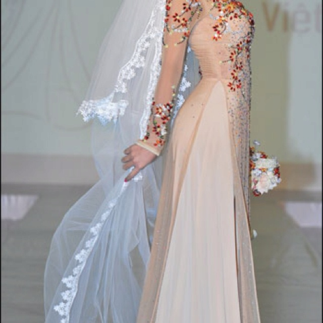 Wedding Dresses  Vietnam : Pin by minh best on vietnamese ao dai cuoi
