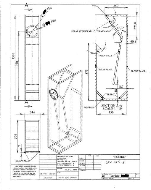 Колонки самодельные: схема, чертежи