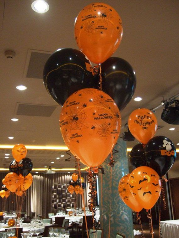 Halloween party ideas the twins halloween party pinterest for Balloon decoration for halloween