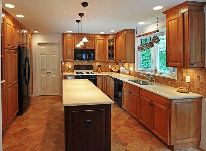 Long skinny island remodel ideas pinterest for 90s kitchen remodel