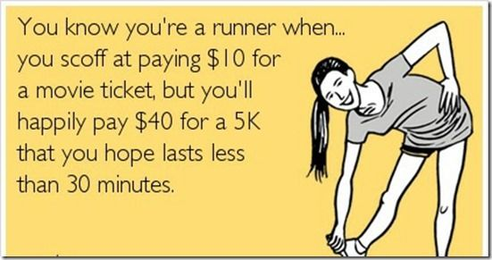 LOL but at least you burn calories and get a t-shirt too...the ticket gives nothing back to this world
