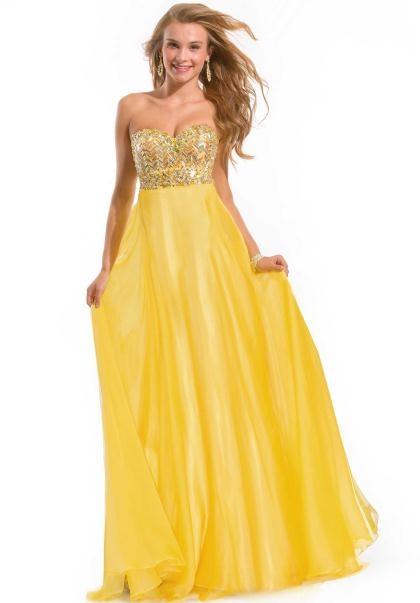 Yellow Prom Dresses Peaches Boutique 99