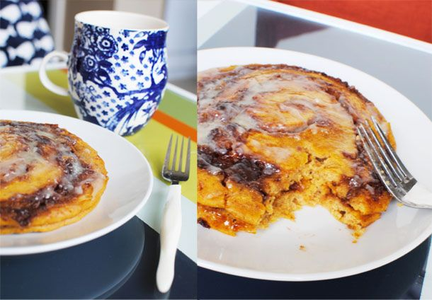 Pumpkin Cinnamon Roll Pancakes... Oh. My. Goodness. :O I need this in ...