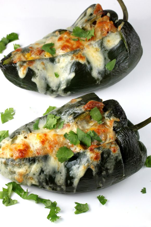 Stuffed Poblano Peppers | Food | Pinterest