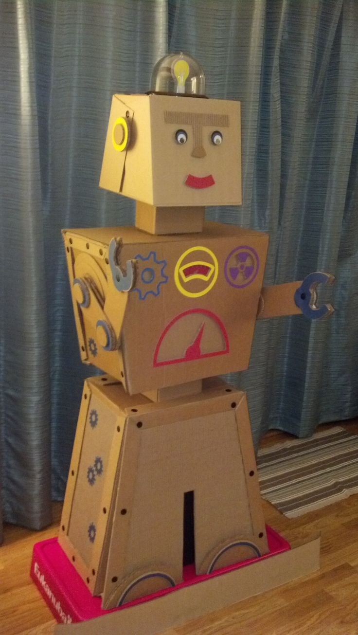 Robot Classroom Decoration Ideas : My cardboard robot for wow vbs workshop of