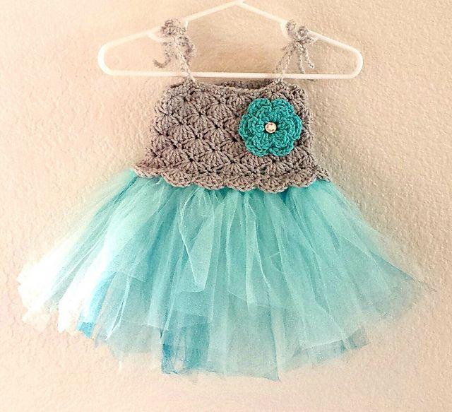 Crochet Baby Tutu Dress Pattern : Crochet Baby Tutu Dress pattern by Rebecca Anne