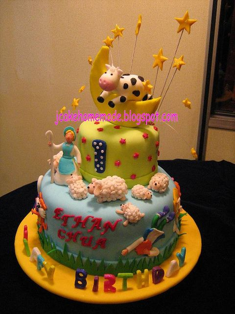 Nursery rhymes birthday cake.