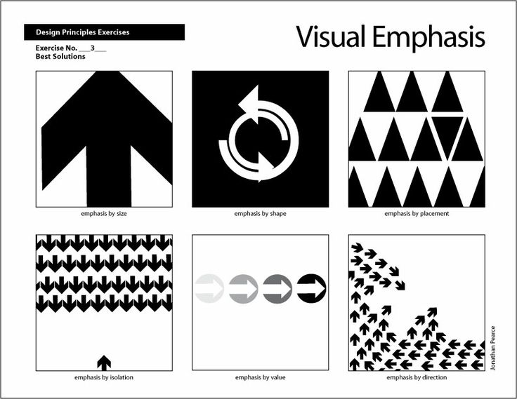 More examples of emphasis | VC1: Principles of Design ...