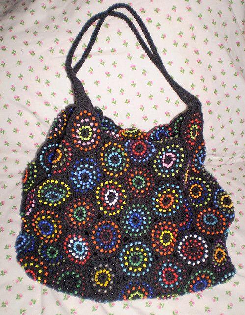 beaded crochet bag Yarns related Pinterest