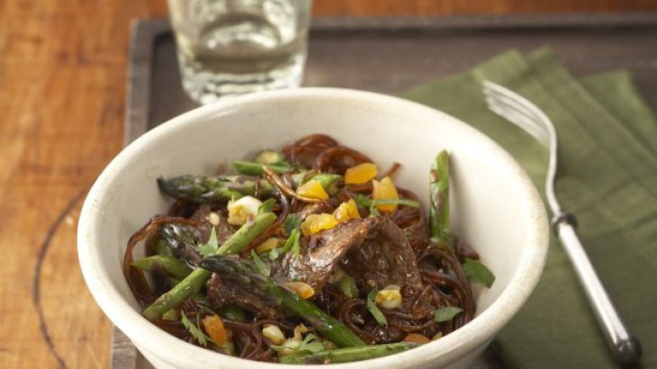 Tangerine Beef with Glass Noodles Recipe Recipe