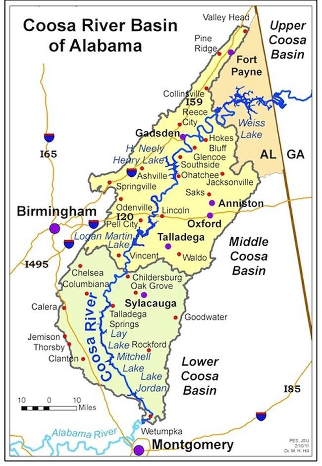 Coosa River Basin Of Alabama  Sweet Home Alabama  Pinterest