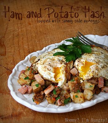 Ham and potato hash with eggs | Recipes - Main Dishes | Pinterest