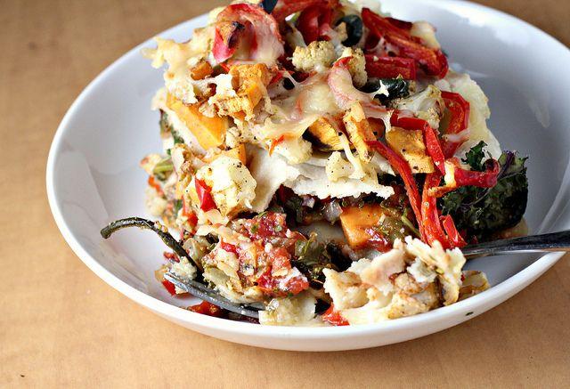 Stacked Roasted Vegetable Enchiladas | Food | Mostly Vegetarian | P…