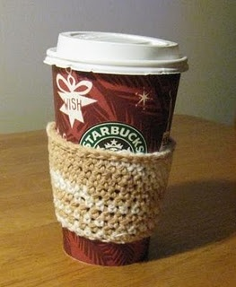 Quick Crochet Coffee Sleeve Pattern for Madeleine's Party