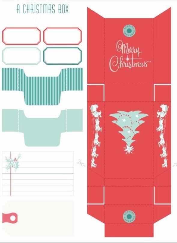 christmas gift box template – Homemade Gift Boxes Templates