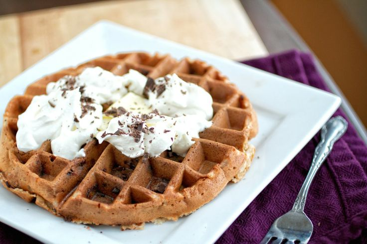 Banana and Dark Chocolate Waffles | Recipe
