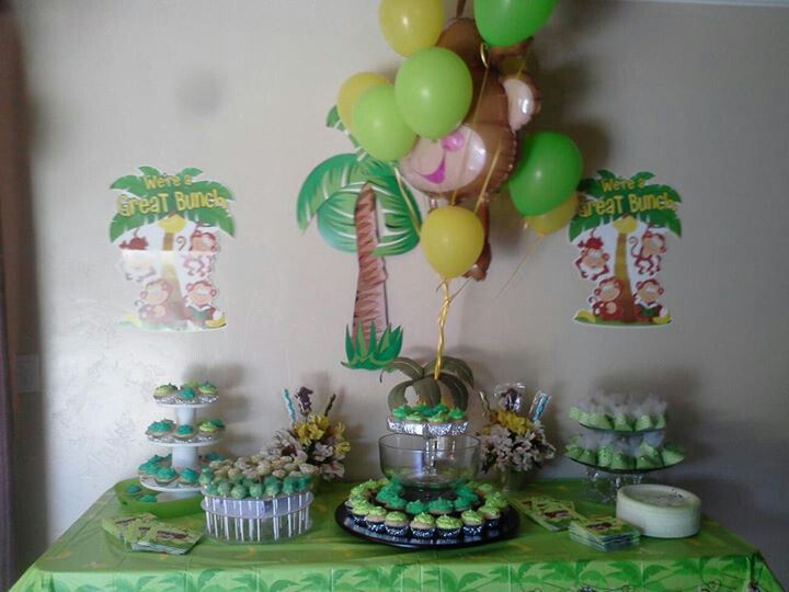 monkey theme baby shower decorations