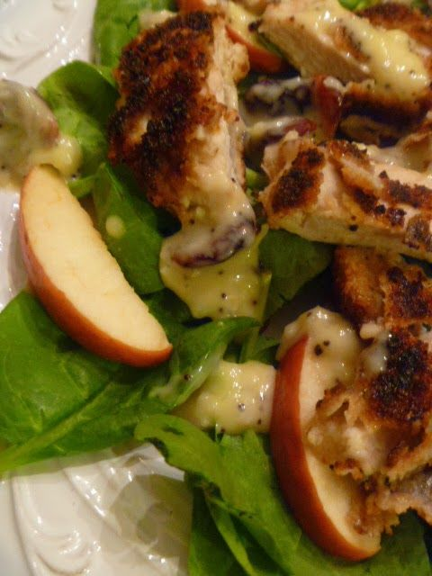 Crispy Chicken, Apple, and Spinach Salad | Amazing Salads & Dressings ...