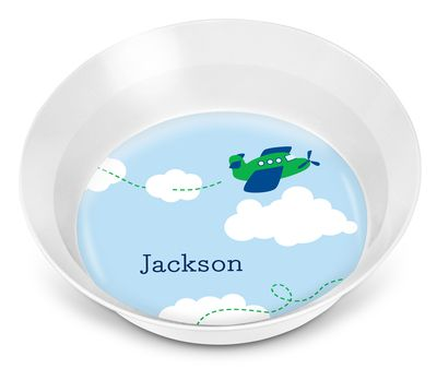 Airplane Children's Melamine Bowl
