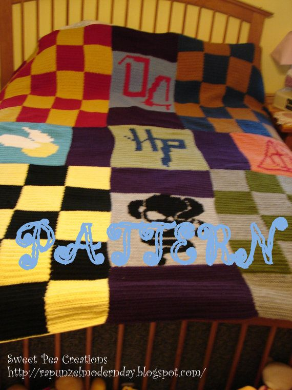Crochet Patterns Harry Potter : Harry Potter Crochet Blanket PATTERN by SweetPeaCove on Etsy, $10.99
