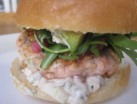 Salmon Burger - better burger recipe, though I'd leave off the goopy ...