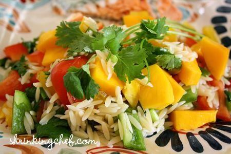 Orzo Pasta and Mango Salad; | Salads and Dressings | Pinterest