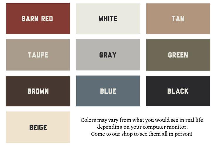 Barn Colors Schemes | Paint Colors   Storage Sheds, Barns, Shops