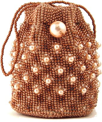 Crochet Beaded Bag Pattern : Copper Crocheted Bag by Ann Benson Beaded Neckace Patterns Pinter ...