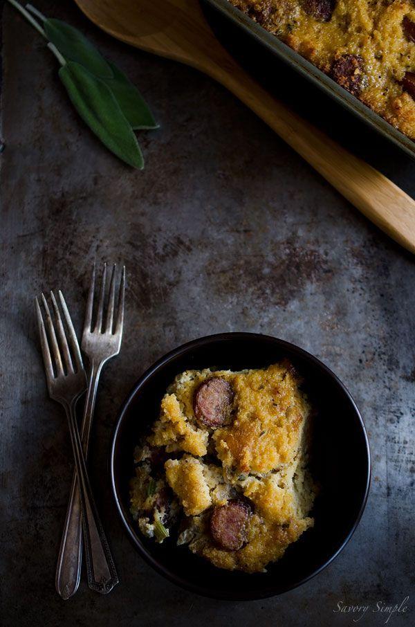 Italian Sausage Cornbread Stuffing | In the Kitchen | Pinterest