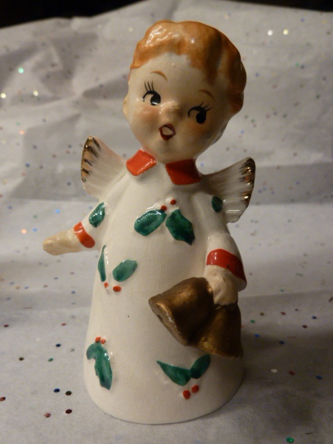 Vtg Ucagco Christmas Angel Bell w/bells Japan~with tag | eBay