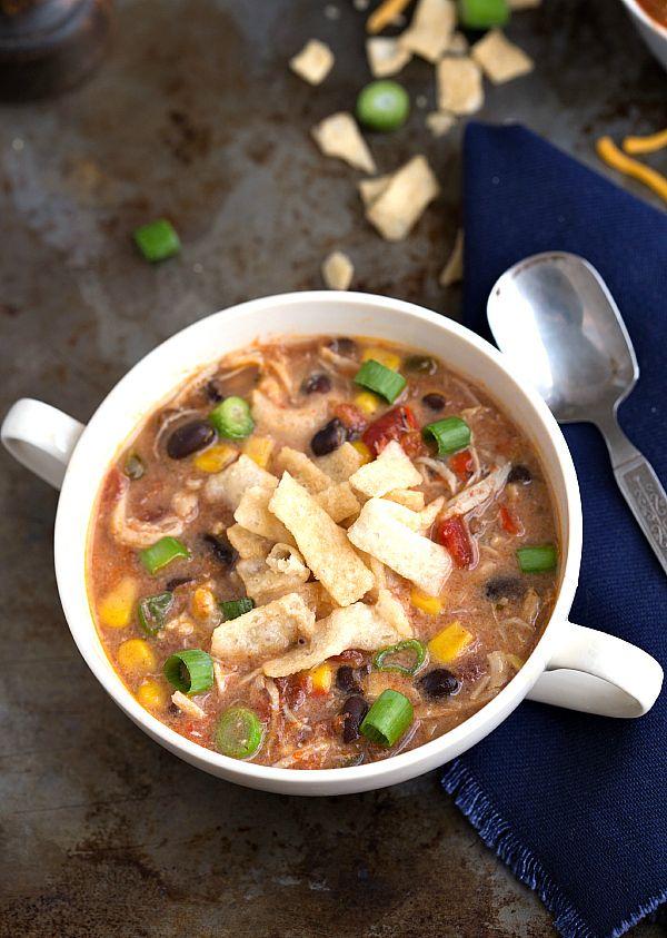 Baja Chicken Soup Spicy Chicken Quesadilla Soup