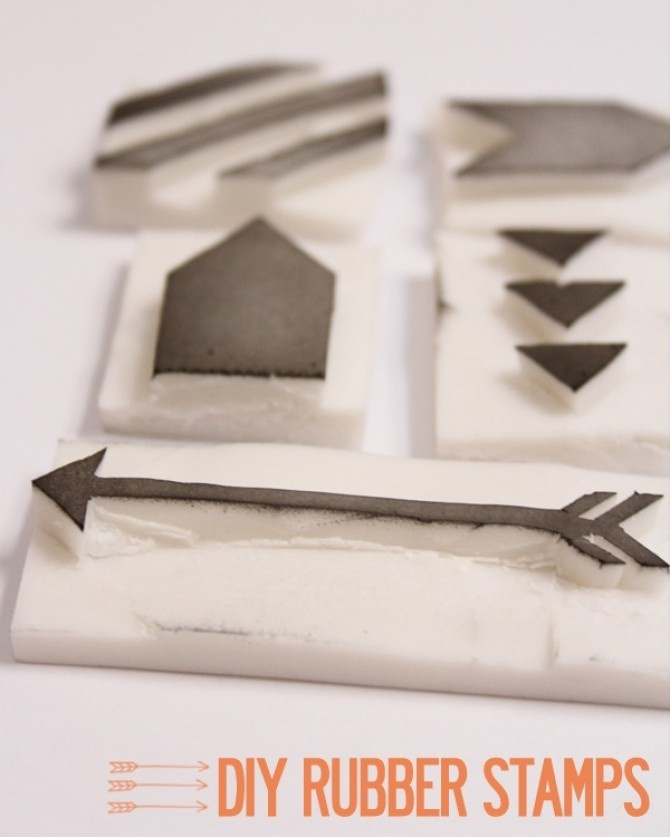 Easy DIY Rubber Stamps