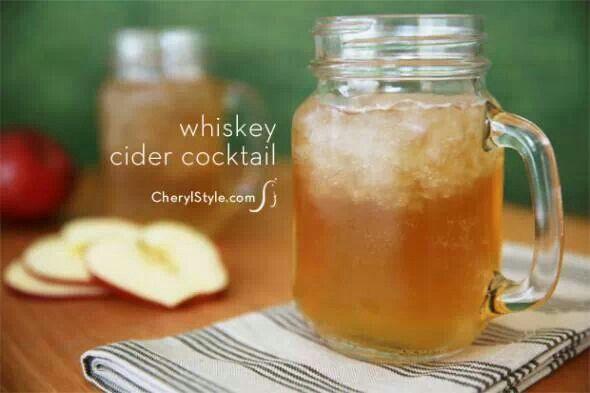 Whiskey cider cocktail   Beverages   Pinterest