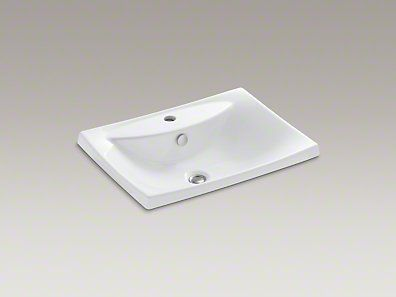 Small Drop In Vanity Sinks : drop in sink for vanity Bathroom reno Pinterest