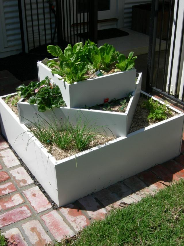 Tiered garden build from wood GARDEN IDEAS Pinterest