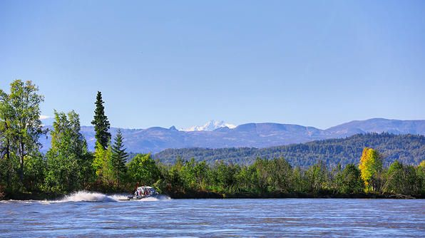Skwentna River, located just outside Wasilla, AK