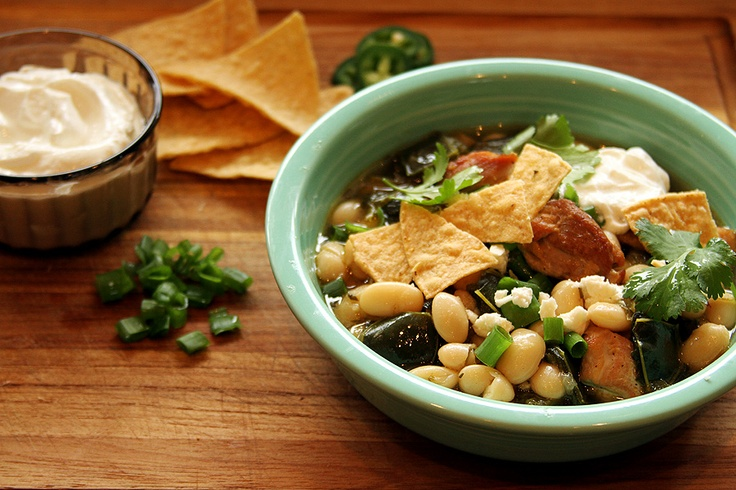 Chicken, White Bean, and Poblano Stew Recipe