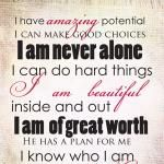Positive Affirmations Printable   Amber May Be…