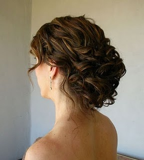 up do loose curls wedding hair