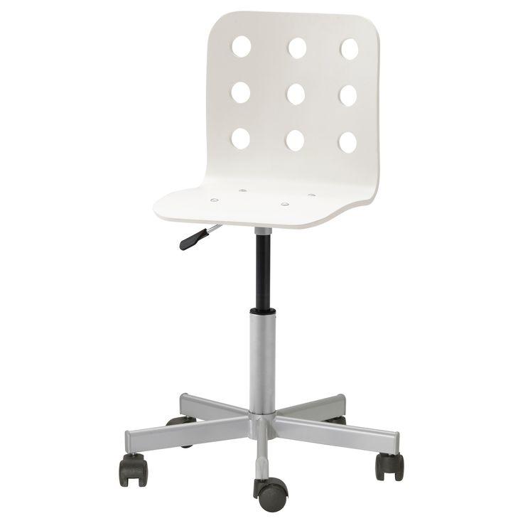 JULES Junior desk chair white silver color