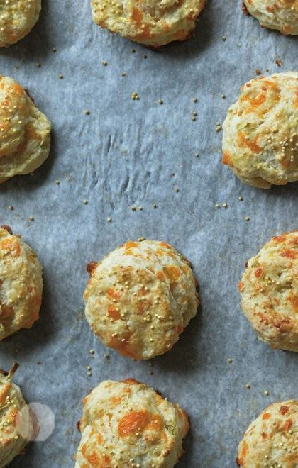 Apple cheddar scones | Straight to the Hips | Pinterest