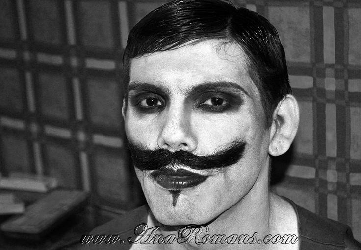 #bigote #maquillaje artistico #Circo #Años20 en #palaciosanssouci #wedding cocktail #contenidosartisticos producido por www.anaromans.com #creativeevents  inspiracion cine mudo años 20