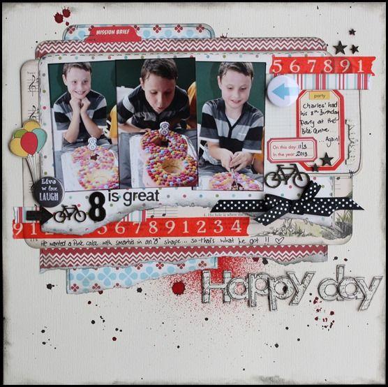 boys birthday scrapbooking layout | scrapbooking layouts | Pinterest